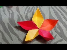 How to DIY an Origami Flowers - How to DIY an Origami Flowers + Tutorial .