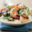 Try the Stir-Fried Shrimp with Snow Peas and Mushrooms Recipe on williams-sonoma.com