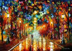 Farewell To Anger  PALETTE KNIFE Oil Painting by AfremovArtGallery, $139.00