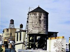 Last remaining wooden water tower in NYC