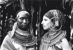 Barbara Streisand getting the epic side eye from a Masai woman in the '70s. Via @DiggsWayne