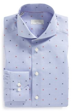 Casa Moda-Casual Fit-Dobby Chemise à carreaux avec Button Down-col en rouge