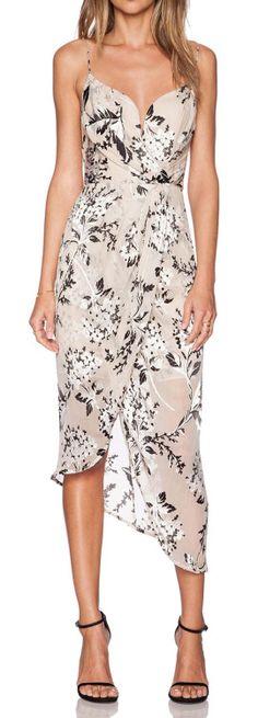 Draped Petal Dress