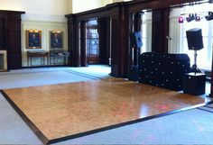 Traditional parquet wooden dance floor with star cloth DJ booth and HK Audio Actor DX sound system Led Dance, Dance Floors, Dj Booth, Audio, Traditional, Black And White, Star, Party, Christmas