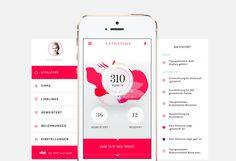 Vital Girls App 2013 by Krunchtime, via Behance