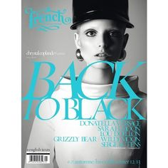 French BACK TO BLACK F/W 12 Covers (French Revue des Modes) ❤ liked on Polyvore
