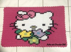 Tapete Croche Hello Kitty Flores