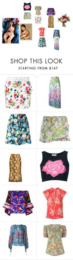 """""""Floral Print..**"""" by yagna ❤ liked on Polyvore featuring Love Moschino, Dondup, Carven, Balenciaga, Krizia, Emilio Pucci, Rebecca Taylor, Roberto Cavalli, Yves Saint Laurent and vintage"""