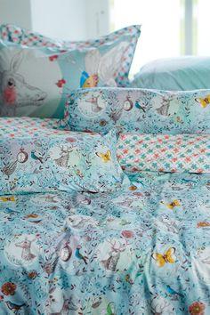 PiP Oh Deer | Blue bedding | PiP Studio © Studio Room, Pip Studio, Purple Bedding Sets, House Of Turquoise, Linen Bedroom, Girls Bedroom, Bedroom Ideas, Oh Deer, Bedroom Accessories