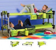 Kid-O-Bunk: Portable Bunk Beds For Camping, Also Converts Into a Sofa
