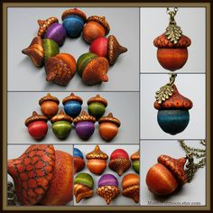 Herbst Eichel Anhänger von MandarinMoon auf DeviantArt - New Sites Pinecone Crafts Kids, Acorn Crafts, Pine Cone Crafts, Autumn Crafts, Nature Crafts, Thanksgiving Crafts, Wood Crafts, Christmas Crafts, Kids Christmas