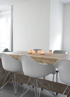 Salle a manger r ception on pinterest eames eames chairs and dining rooms - Tafel salle a manger ontwerp ...