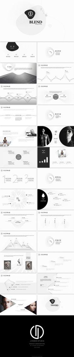 混合美学工作汇报keynote模版 - 演界网,中国首家演示设计交易平台
