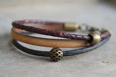 Indigo Berry womens braided leather bracelet // by picturing https://www.etsy.com/listing/179058309/indigo-berry-womens-braided-leather?ref=favs_view_3