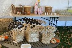 cake pops in a hay bale - Google Search