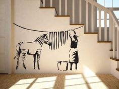 מדבקת קיר אומנות BANKSY