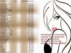 modelo de tabelas de preços para salao de beleza - Pesquisa Google