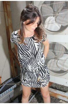 Robe fluide Zebre