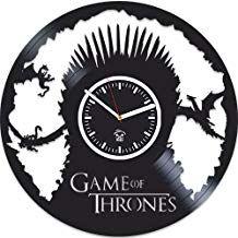 Vinyl Record Clock, Vinyl Records, Wall Clock Silent, Game Of Thrones Gifts, Mother Of Dragons, Home Art, Clocks, Lp, Art Decor
