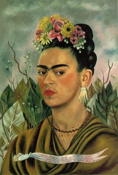 Frida with leaves and pennant
