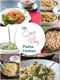 16 QUICK & EASY PASTA DISHES (30 MINS OR LESS) From Erren's Kitchen