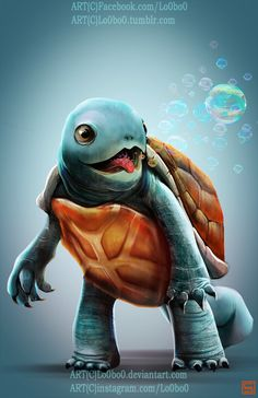 Realistic pokemon project 007 Squirtle, Sergio Palomino on ArtStation at https://www.artstation.com/artwork/AQ3xV