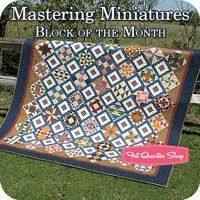 Mastering Miniatures Block of the Month Homestead Hearth for Marcus Brothers Fabrics - Fat Quarter Shop Magnifique ! Fat Quarter Quilt, Fat Quarter Shop, Patch Quilt, Quilt Blocks, Dear Jane Quilt, Quilting Tutorials, Quilting Ideas, Miniature Quilts, Block Of The Month