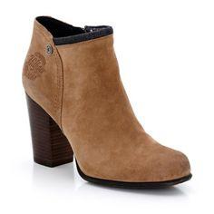 Boots à talon haut en cuir - Tommy Hilfiger chaussures femme - #tommyhilfiger