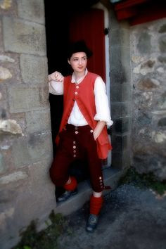 Fortress Louisbourg period costume 1700's In black and green this would be perfect for Jonas
