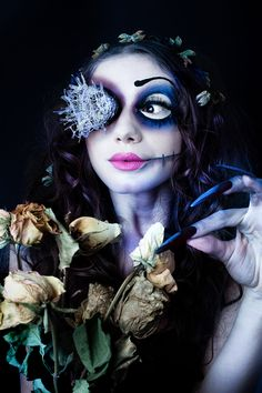 project: Corpse Bride  make up & hair: Raffaella Fiore MAKE-UP  photographer: http://www.laschienadilara.com/  model: Maura Di Vietri  Tagged: corpse bride tim burton laschienadilara laschienadilara.com dark goth photography halloween LSDL makeup make-up