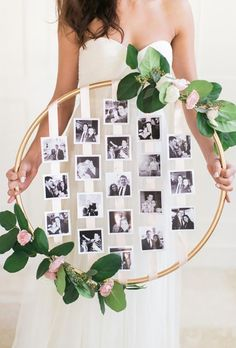 diy Wedding Crafts: Hanging Floral Photo Hoop – www.diyweddingsma… diy Wedding Crafts: Hanging Floral Photo Hoop – www. Trendy Wedding, Dream Wedding, Wedding Day, Wedding Rustic, Wedding Vintage, Wedding Rings, Vintage Diy, Floral Wedding, Wedding Flowers
