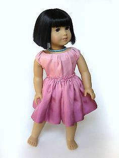 """Melody Valerie Couture """"Dewkissed"""" American Girl 18"""" Doll Handmade Clothes Dress   eBay. Ends 3/29/14. This one is OOAK...no pattern to be made from it?!? Sold for $127.99."""