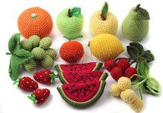 Conjunto de punto de frutas