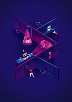 Illustrations by Jack Hudson | Inspiration Grid | Design Inspiration
