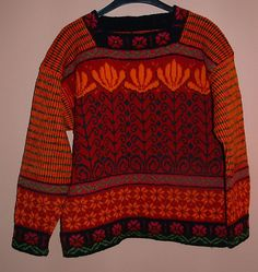 Ravelry: ingeroos Sweater with Flowers and Pearls