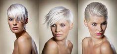 one cut: three ways    #blonde #shorthair