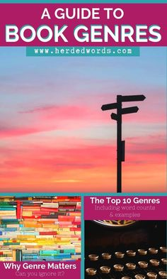 A guide to the top 10 genres of books, including word counts & book examples. Plus, learn why genre matters (can you ignore it? can you write in multiple genres?). Click to find out!