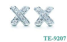 Tiffany and co Earrings Exquisite Diamond X jewelry Outlet