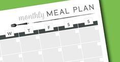 Monthly Meal Planner | Free Printable | Meal Planning | Pantry | Freezer | Fridge | Organization | Dinner