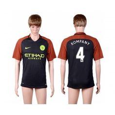 Manchester City 16-17 Vincent Kompany 4  Bortatröja Kortärmad  #Fotbollströjor