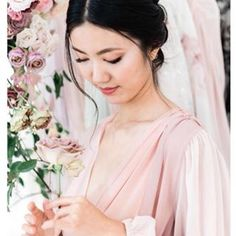 Heres to a serene photo amidst the holiday craziness. Reminder: Stop and smell the roses. Hair and Makeup by our Bella. Amazing robe by Asian Hair And Makeup, Wedding Hair And Makeup, Hair Makeup, Love Makeup, Makeup Looks, Makeup Ideas, Character Modeling, Boho Bride, Wedding Looks