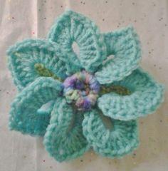 Crocheted Brooch/Corsage/Pin Aruba Seas Flower Motif by daddydan, $3.95