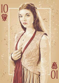 """Margaery Game of Thrones """"Playing Cards"""" posters (2012-2014) by ratscape"""