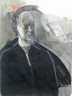 Chateaubriand, Kol, tusch och akvarell, 76x56cm