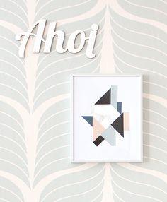 DIY: eine coole geometrische Collage *** DIY: a cool geometric collage