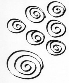 Thermofax Screen  Multi Spirals by FabricImagery on Etsy
