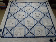 design by Anne Sutton, i so love the blue and white!