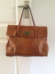 Mulberry Bayswater Oak Leather well used vintage