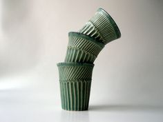 Teal Cup with Sparks of Gold by CrowWhitePottery on Etsy, $18.00
