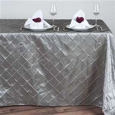 Pintuck Tablecloth - Different Colors Available